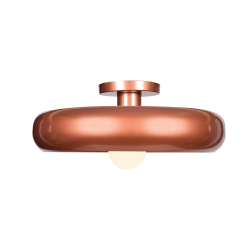 Access Lighting Bistro Collection Round Colored LED Semi Flush Mount in Copper and Gold Finish