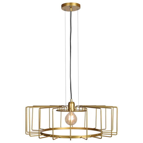 Access Lighting Wired Collection 1-Light Horizontal Cage Pendant in Gold Finish