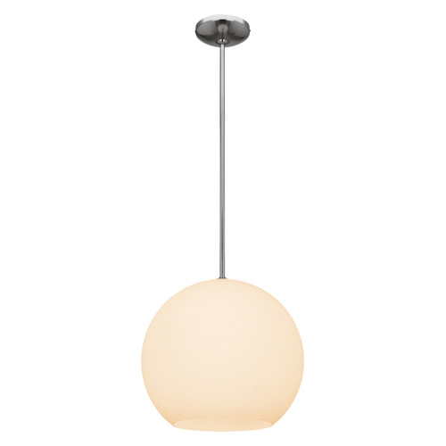 Access Lighting Nitrogen Collection Ball Pendant (l) in Brushed Steel Finish