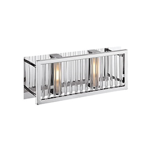 Access Lighting Gemini Collection 2 Light Wall/Vanity in Chrome Finish