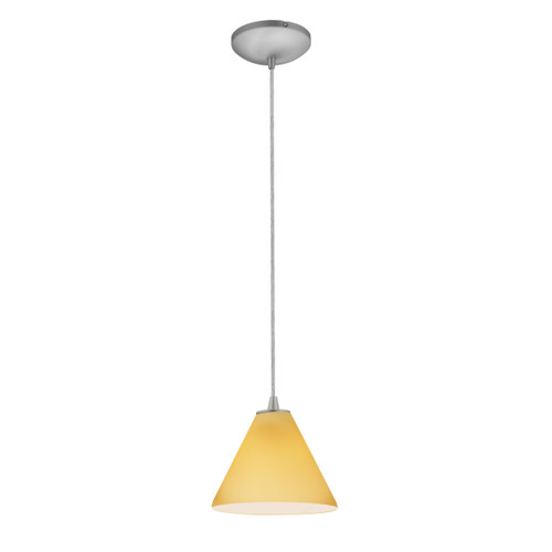 Access Lighting Martini Collection 1-Light Pendant in Brushed Steel Finish