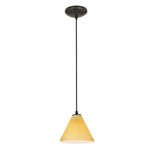 Access Lighting Martini Collection 1-Light Pendant in Oil Rubbed Bronze Finish