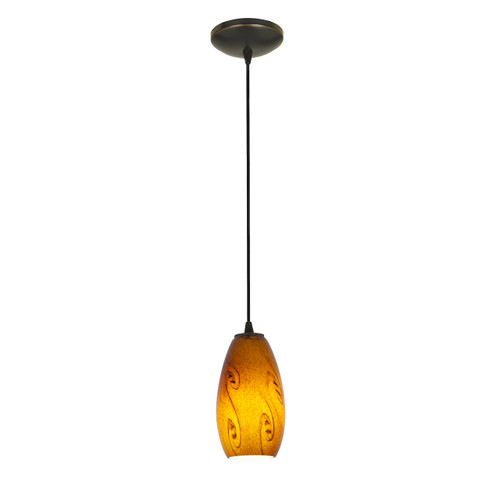 Access Lighting Merlot Collection 1-Light Pendant in Oil Rubbed Bronze Finish