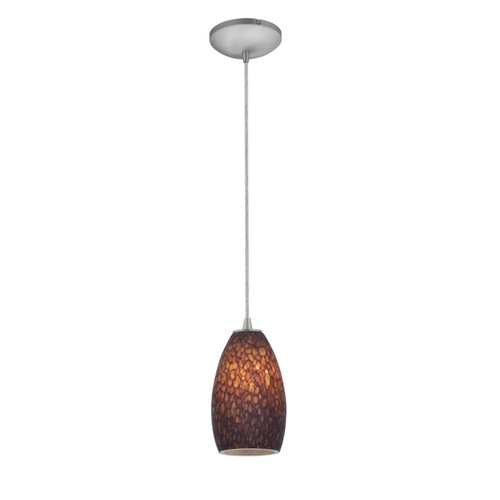 Access Lighting Champagne Collection 1-Light Pendant in Brushed Steel Finish