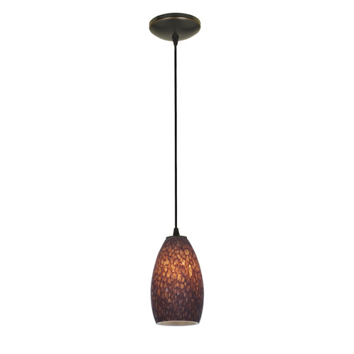 Access Lighting Champagne Collection 1-Light Pendant in Oil Rubbed Bronze Finish