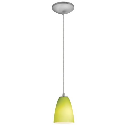 Access Lighting Flute Collection 1-Light Pendant in Brushed Steel Finish