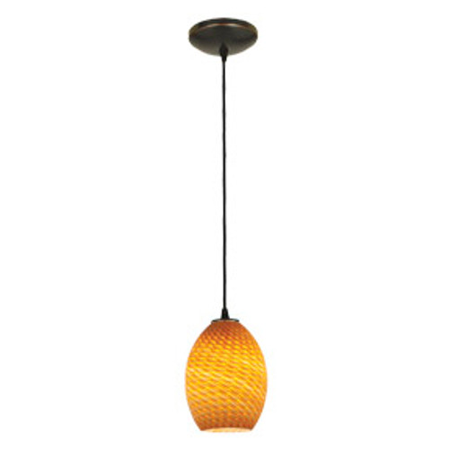 Access Lighting Brandy FireBird Collection 1-Light Pendant in Oil Rubbed Bronze Finish
