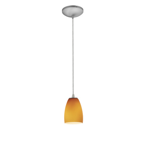 Access Lighting Sherry Collection 1-Light Pendant in Brushed Steel Finish
