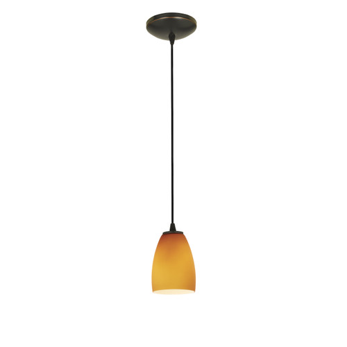Access Lighting Sherry Collection 1-Light Pendant in Oil Rubbed Bronze Finish