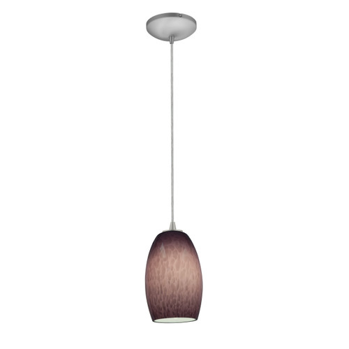 Access Lighting Chianti Collection 1-Light Pendant in Brushed Steel Finish