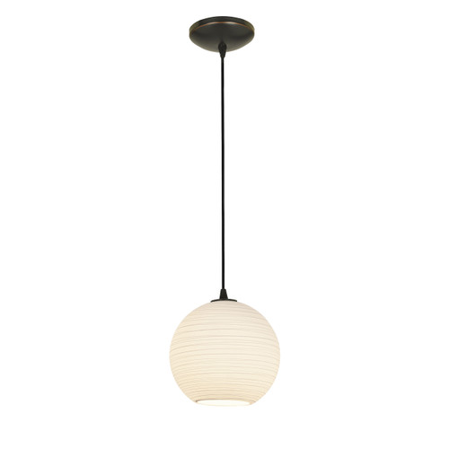 Access Lighting Japanese Lantern Collection 1-Light Pendant in Oil Rubbed Bronze Finish