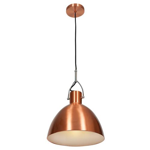 Access Lighting Essence Collection Copper Dome Pendant in Brushed Copper Finish
