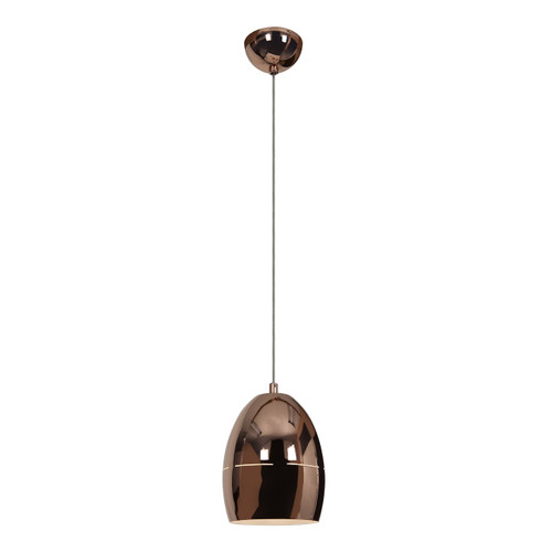 Access Lighting Essence Collection 1-Light Slotted Dome Pendant in Rose Gold Finish