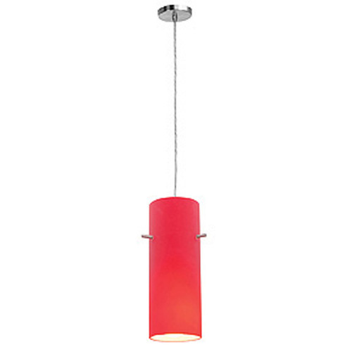 Access Lighting Shava Inari Silk Collection 1 Light Pendant in Brushed Steel Finish