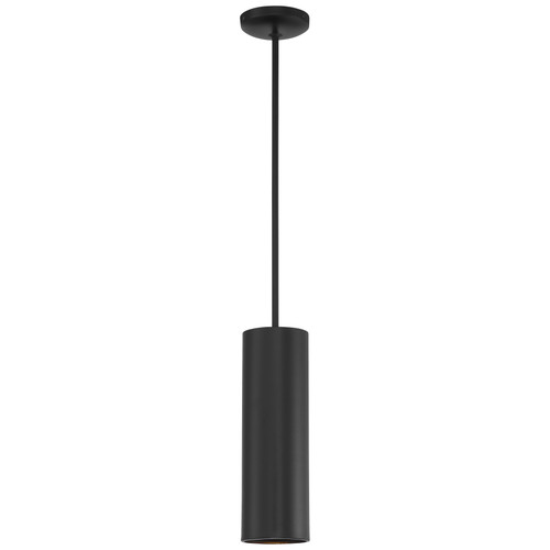 Access Lighting Pilson Collection 1 Light Rod Pendant in Matte Black Finish