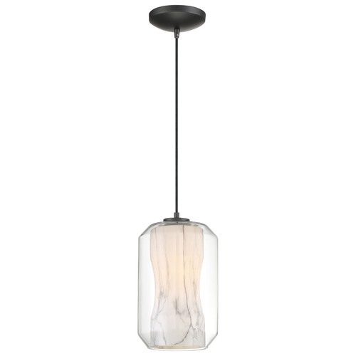 Access Lighting I-Biza Collection 1 Light LED Pendant in Black Finish