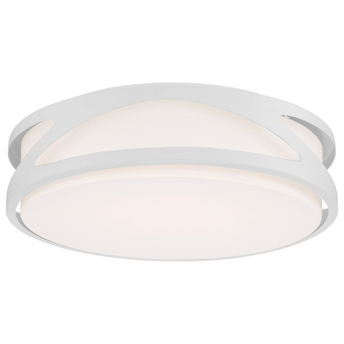 Access Lighting Lucia Collection LED Flush Mount in White Finish