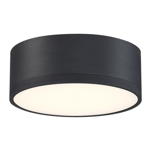 Access Lighting Beat Collection 120-277v Dimmable LED Flush Mount in Black Finish