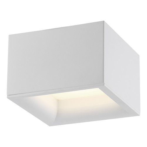 Access Lighting Bloc Collection 120-277v Dimmable LED Flush Mount in White Finish