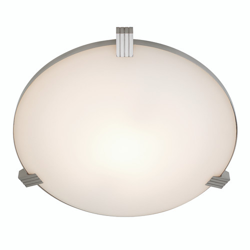 Access Lighting Luna Collection Flush Mount in Brushed Steel Finish
