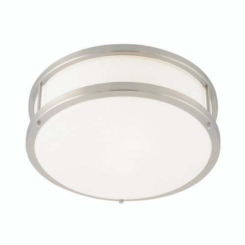 Access Lighting Conga Collection Flush Mount in Brushed Steel Finish