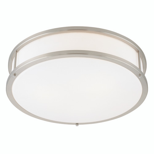 Access Lighting Conga Collection Dimmable LED Flush Mount in Brushed Steel Finish
