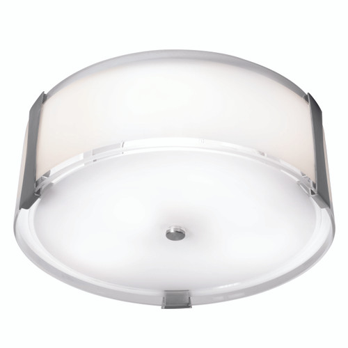 Access Lighting Tara Collection Flush Mount in Brushed Steel Finish