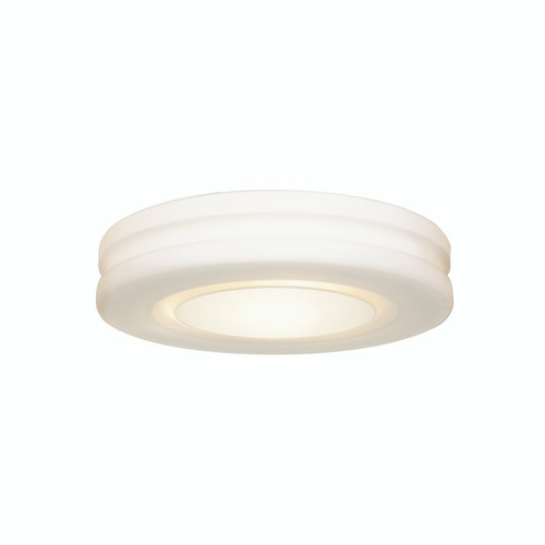 Access Lighting Altum Collection Dimmable LED OPL Glass Flush Mount in White Finish