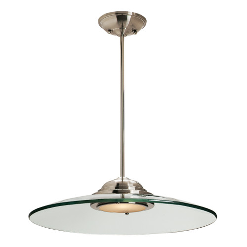 Access Lighting Phoebe Collection Dimmable LED Semi-Flush or Pendant in Brushed Steel Finish