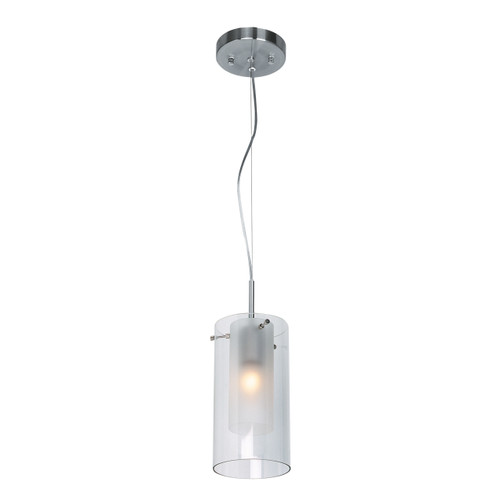 Access Lighting Proteus Collection Cable Suspended Pendant in Brushed Steel Finish