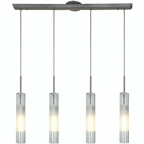 Access Lighting Dezi Collection 4-Light Bar Pendant in Brushed Steel Finish