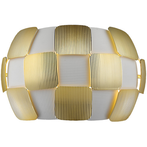 Access Lighting Layers Collection Wall Mount in White with Gold Finish