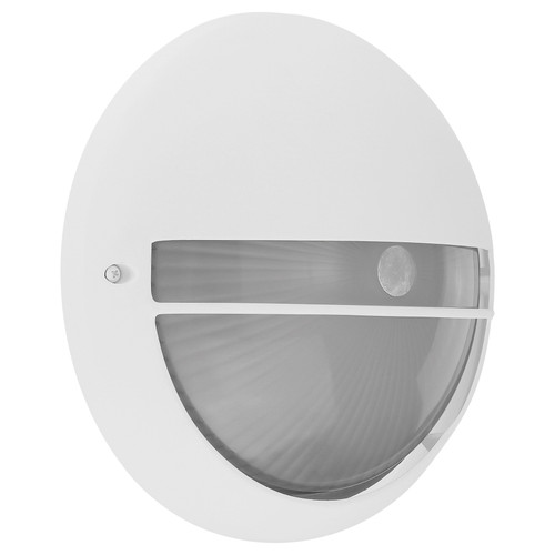 Access Lighting Clifton Outdoor LED Bulkhead in White with Opal Glass, 20260LEDDMG-WH/OPL