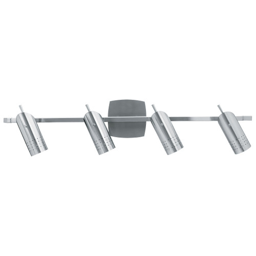 Access Lighting Odyssey Collection Ceiling or Wall Spotlight Rail in Brushed Steel Finish