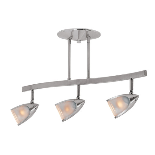 Access Lighting Comet Collection 3-Light Dimmable LED Semi-Flush in Brushed Steel Finish