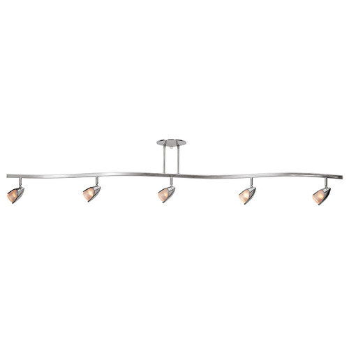 Access Lighting Comet Collection 5-Light Semi-Flush in Brushed Steel Finish