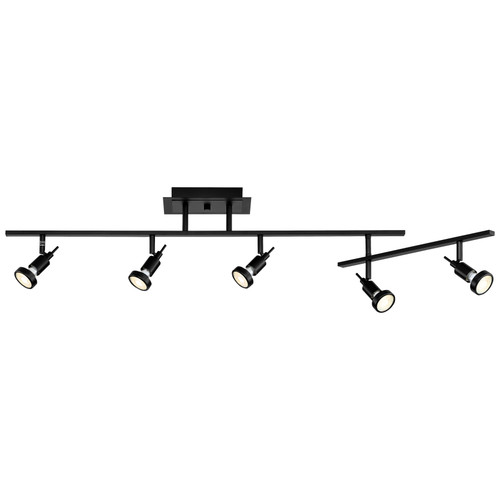 Access Lighting Viper Collection 5-Light LED Semi-Flush with Articulating Arm in Black Finish