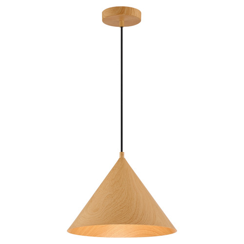 Access Lighting Timber Collection 1 Light Pendant in Wood Grain Finish