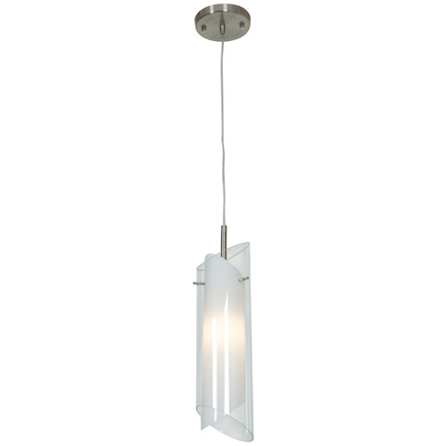 Access Lighting Gyro Collection 1-Light Pendant in Brushed Steel Finish