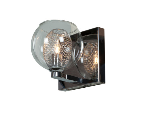 Access Lighting Aeria Collection 1-Light Dimmable LED Metal Foil in Glass Vanity in Chrome Finish