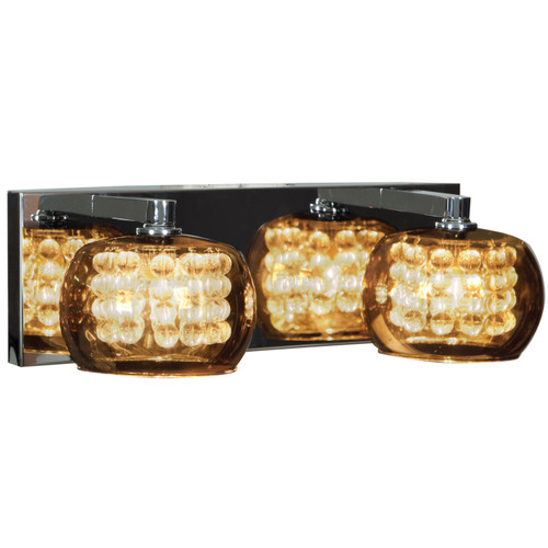 Access Lighting Glam Collection 2-Light Mirror Glass Vanity in Chrome Finish