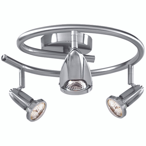 Access Lighting Cobra Collection Wall or Ceiling Fixture in Brushed Steel Finish