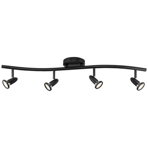 Access Lighting Cobra Collection 4-Light LED Wall or Ceiling Spotlight Bar in Black Finish