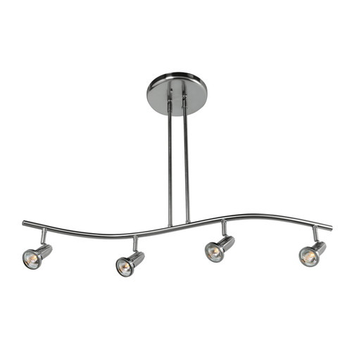 Access Lighting Cobra Collection 4-Light Spotlight Pendant in Brushed Steel Finish