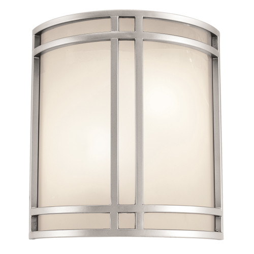Access Lighting Artemis 2 Light Wall Sconce in Satin with Opal Glass, 20420-SAT/OPL