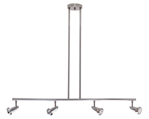 Access Lighting Mirage Collection 4-Light Semi-Flush or Pendant in Brushed Steel Finish