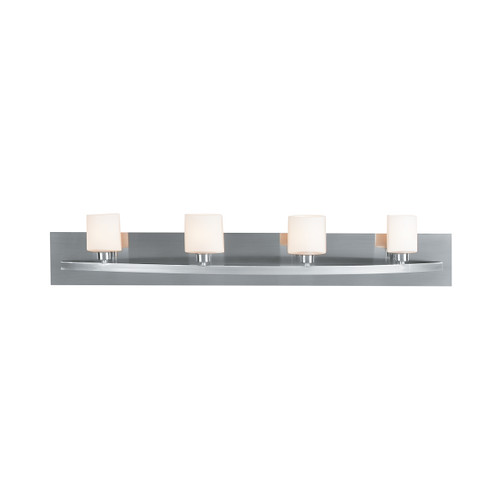 Access Lighting Cosmos Collection 4-Light Wall & Vanity in Brushed Steel Finish
