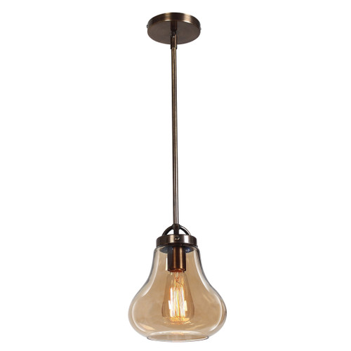 Access Lighting Flux Collection Vintage Lamped Pendant in Distressed Bronze Finish