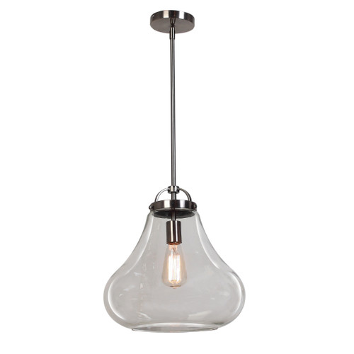 Access Lighting Flux Collection Vintage Lamped Pendant in Antique Nickle Finish
