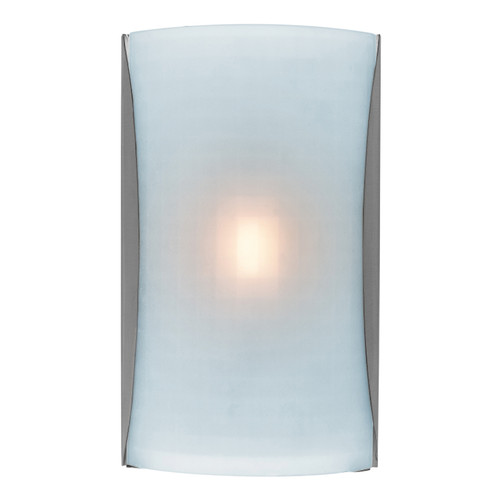 Access Lighting Radon Collection 1-Light Wall Fixture in Brushed Steel Finish